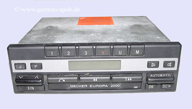 radio becker europa 2000 mercedes benz a0028207886. Black Bedroom Furniture Sets. Home Design Ideas
