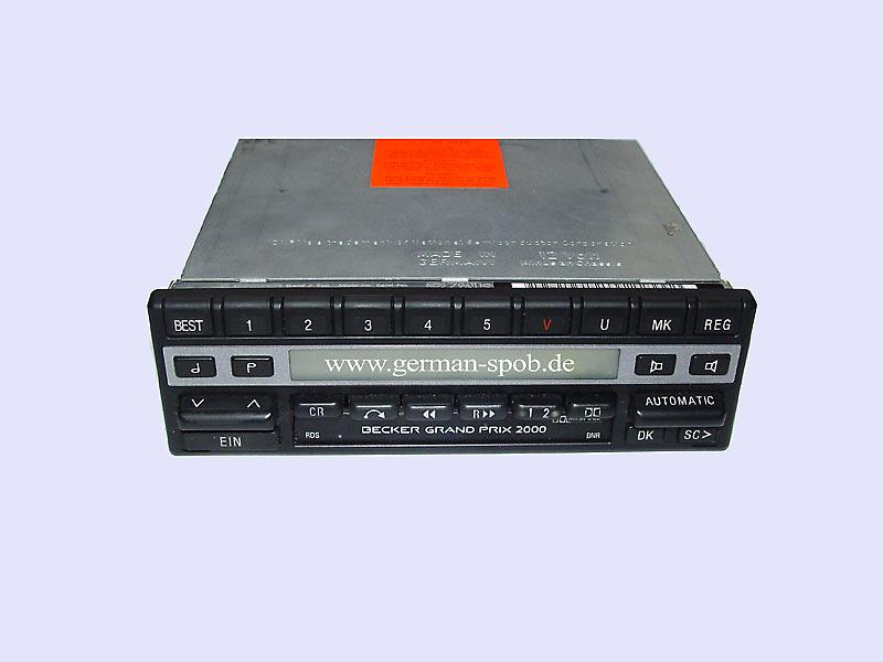 radio becker grand prix 2000 cassette be1302 w126. Black Bedroom Furniture Sets. Home Design Ideas